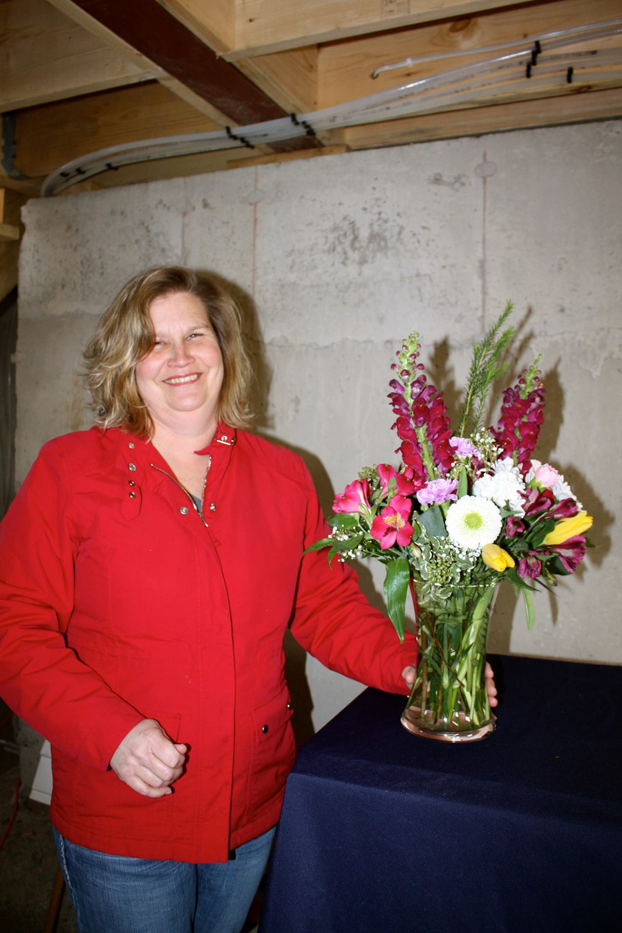 Delivering flowers to farmers