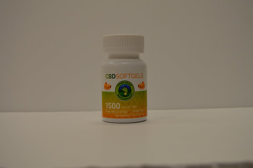 CBD Soft Gel Pills 1500mg