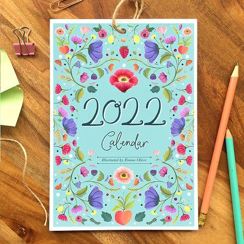 '2022' A5 Floral Desk Calendar