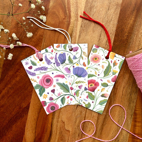 'I must have flowers' Gift Tag set