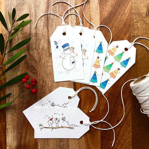 Christmas novelty gift tags