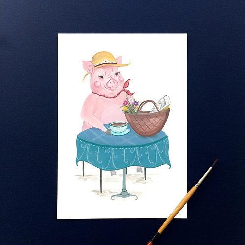 """""""This Little Piggy had tea""""- Art Print"""