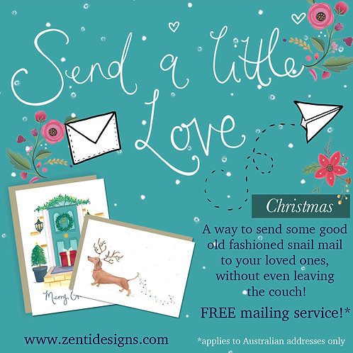 Send a little love - Christmas card Mailing Service!