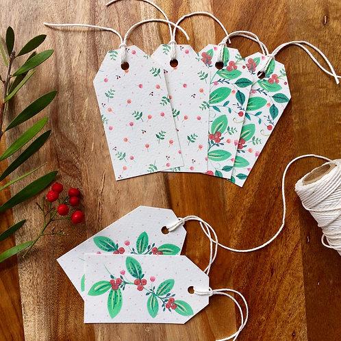 Christmas Floral gift tags