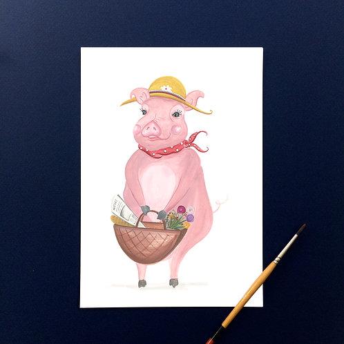 """""""This Little Piggy went shopping""""- Art Print"""
