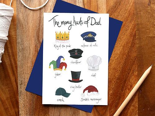 Dad's Many Hats Card