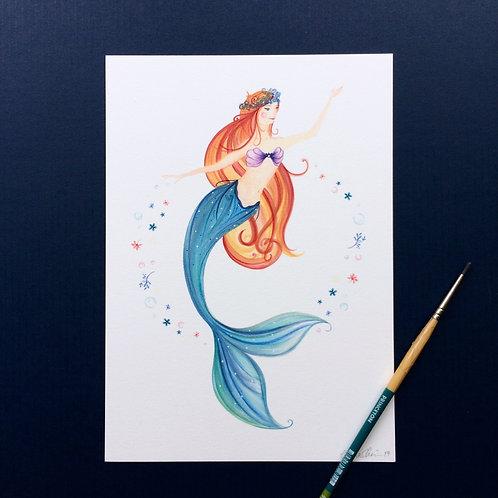 Mermaid Red Hair