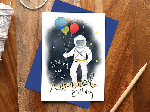 Astronomical Birthday Card