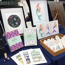 Art and design market stall