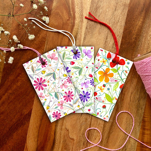 Wildflower Gift Tag Pack of 12
