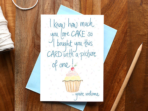 A Picture of Cake Card