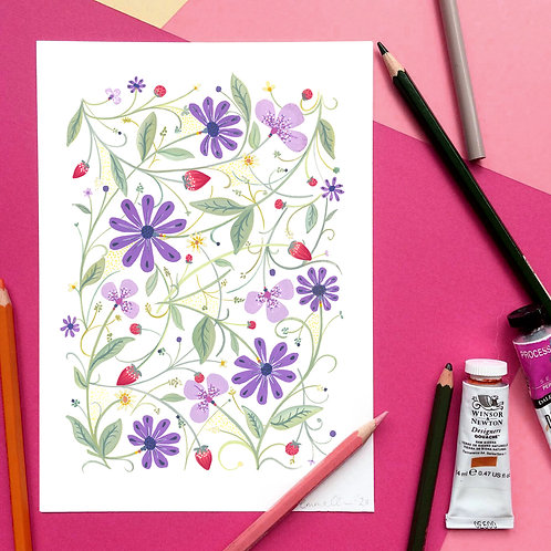 Lilac Berry Art Print