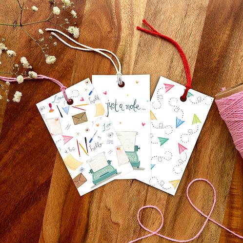 Love letter Gift Tag set
