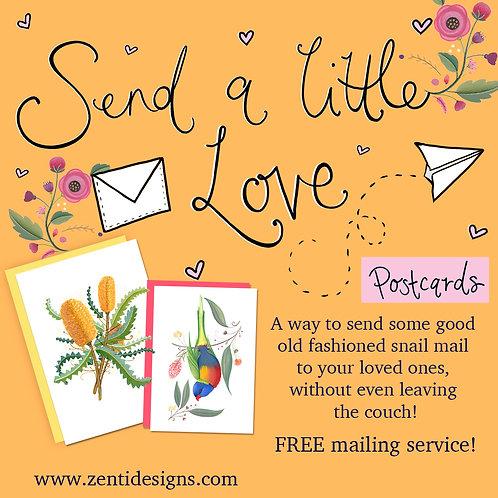 Send a little love - Postcard Mailing Service!
