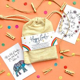 """Happy card"" bunting set"