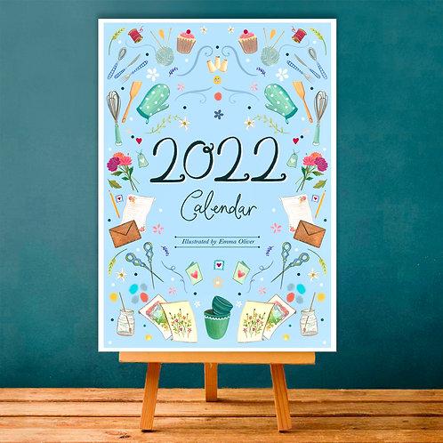A6 '2022' Hobbies Desk Calendar + mini easel!