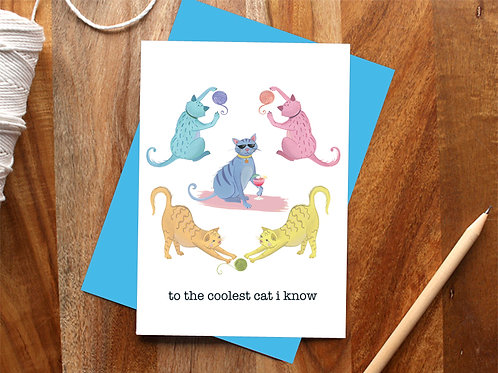 """The Coolest Cat"" Card"