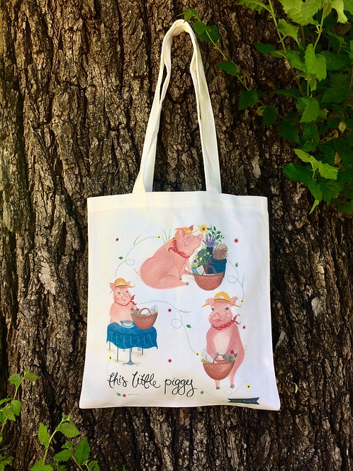 """This little piggy"" tote bag"