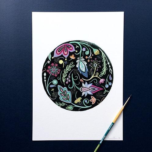 Folky Sphere Art Print