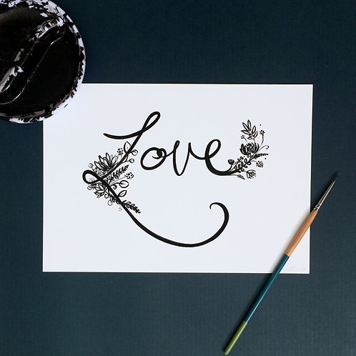 Inky Love Art Print