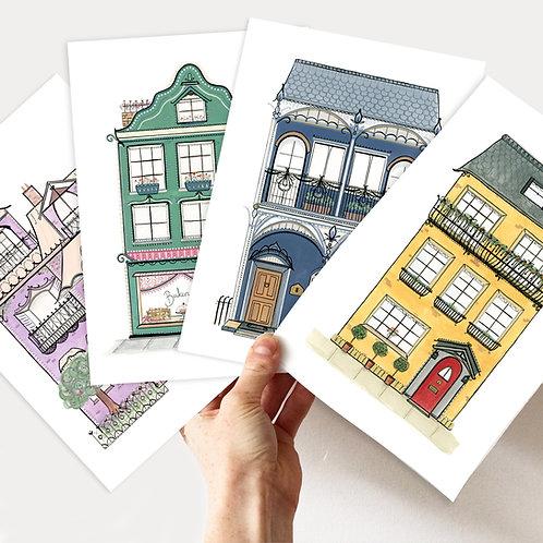 A5/A4 House Art Print Bundle!
