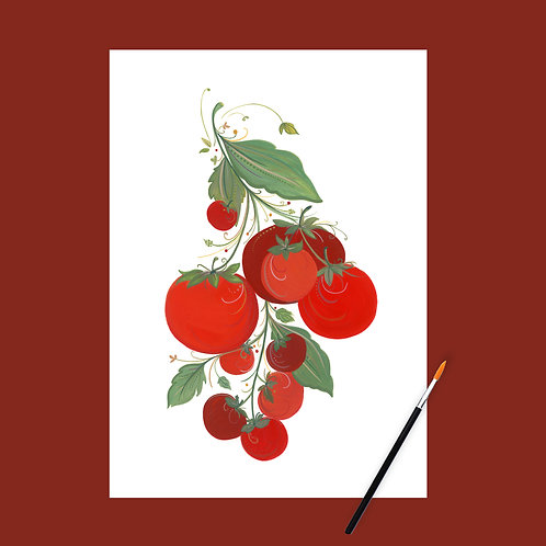 Juicy Tomatoes Art Print