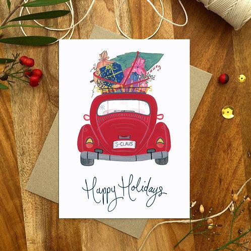 'Holiday Car' Christmas Card