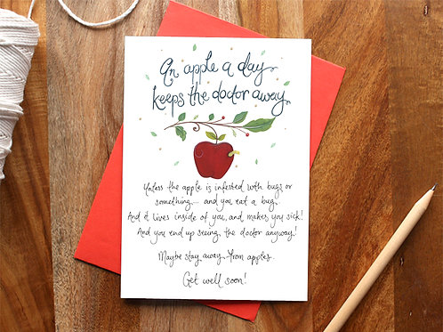 Apple Get Well Soon Card