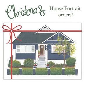 CHRISTMAS Custom House Portrait Deposit only