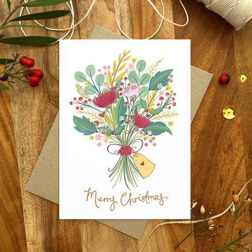 'Christmas Bunch' Christmas Card