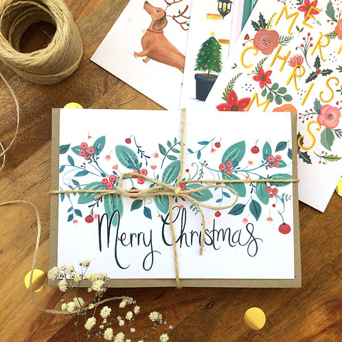 Christmas Card Pack- 10 mixed designs