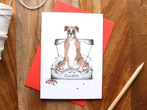 Boxer Chocolates Card