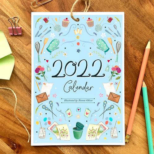 '2022' A5 'Hobbies' Desk Calendar