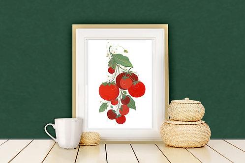 Juicy Tomatoes Art Print