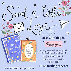 "Send a little love - 'Just Checking in"" Postcard Mailing Service!"