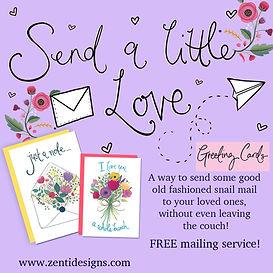 insta send a little love 1 greeting card