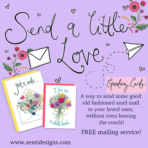 Send a little love - Greeting card Mailing Service!