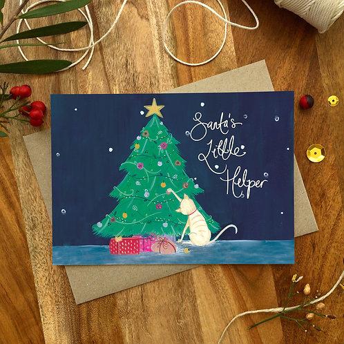 'Santa's Little Helper' Christmas Card
