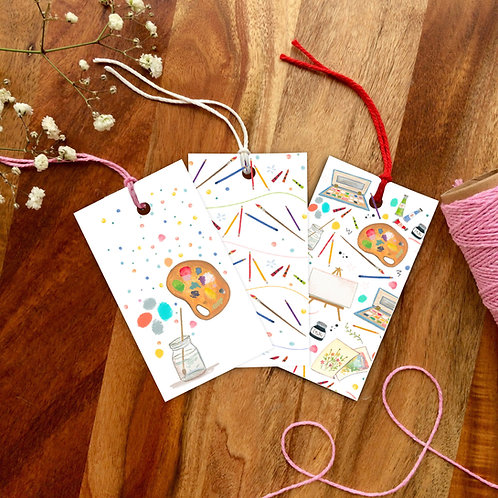 Painting Day Gift Tag set
