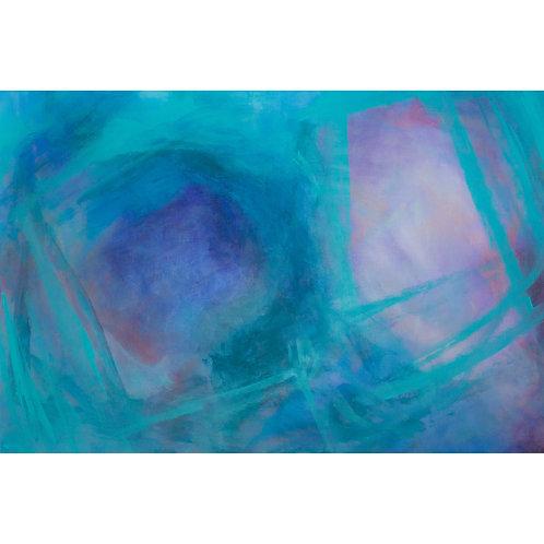 Acryl auf Leinwand | Lila-Blau