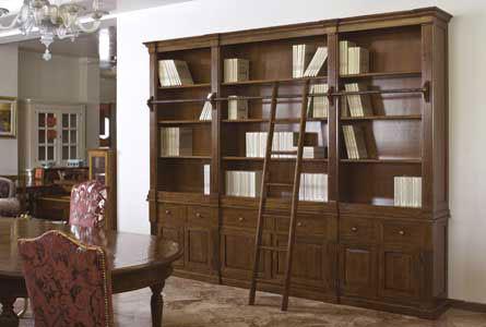 LBG011 - Libreria noce con scaletta | Arredamento | Bassano del ...