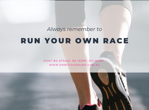 Are you running your own race?