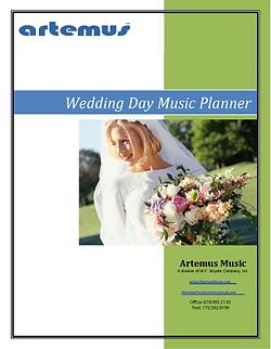 Artemus Wedding Day Music Planner
