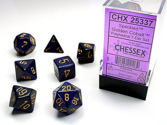 Dice Chessex Speckled 7 Die Set - Golden Cobalt