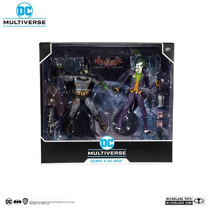 DC Multiverse Batman and Joker  Arkham Asylum (Venom Variant) Figure Set