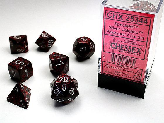 Dice Chessex Speckled 7 Die Set - Silver Volcano