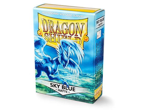 Card Sleeves Dragon Shield - 60 Standard Size Matte Sky Blue