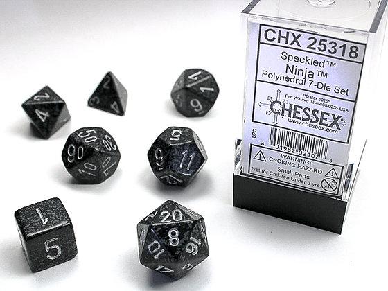 Dice Chessex Speckled 7 Die Set - Ninja