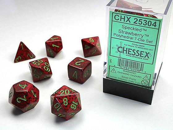Dice Chessex Speckled 7 Die Set - Strawberry