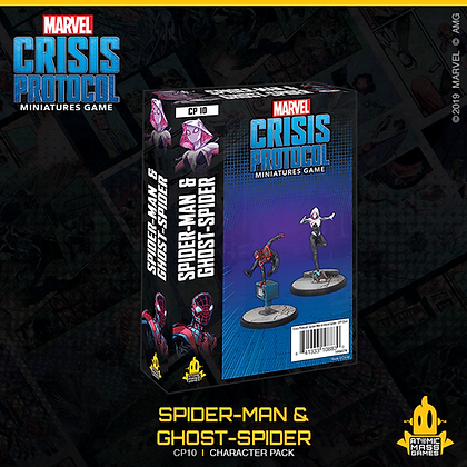 Marvel Crisis Protocol - Spiderman and Ghost spider